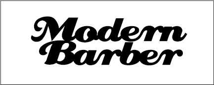 Modern Barber _BLACK ON WHITEWITHLINE